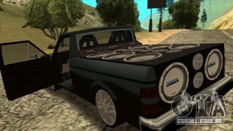 NEW Bobcat para GTA San Andreas traseira esquerda vista