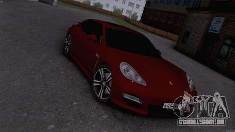 Porsche Panamera para GTA San Andreas traseira esquerda vista