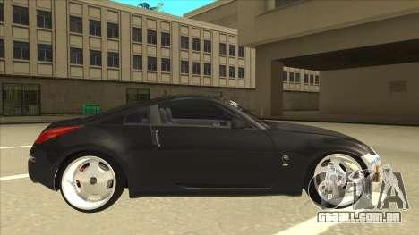 Nissan 350z SimpleDrift para GTA San Andreas traseira esquerda vista