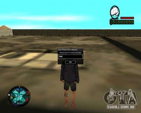 Cleo Gun for SA:MP (dgun) para GTA San Andreas segunda tela