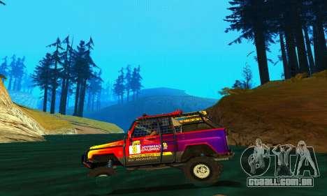 UAZ Hunter julgamento para GTA San Andreas vista interior