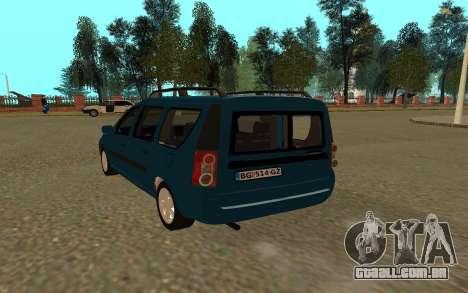 Lada Largus para GTA San Andreas vista direita