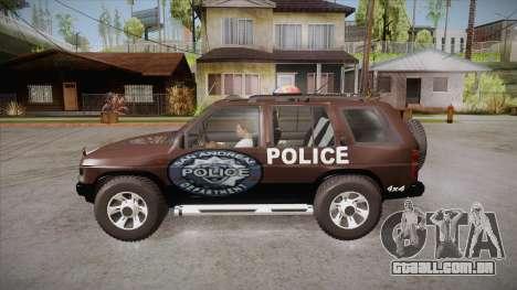 Nissan Terrano RB26DETT Police para GTA San Andreas esquerda vista