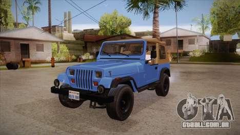 Jeep Wrangler V10 TT Black Revel para GTA San Andreas