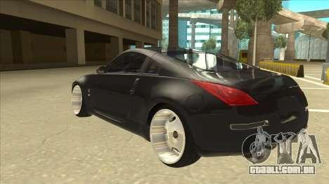 Nissan 350z SimpleDrift para GTA San Andreas vista traseira