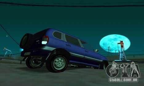 21236 Chevrolet Niva VAZ para GTA San Andreas traseira esquerda vista