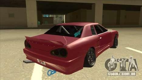 Elegy Drift para GTA San Andreas vista direita
