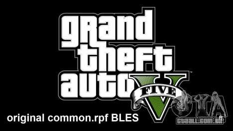 Original common.rpf BLES para GTA 5