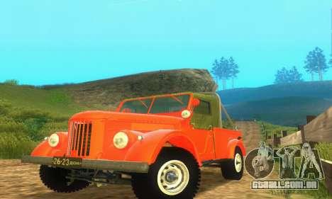 GAZ 69 Pickup para GTA San Andreas esquerda vista