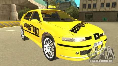 Seat Leon Belgrade Taxi para GTA San Andreas esquerda vista