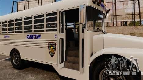O ônibus da prisão Liberty City para GTA 4 vista de volta