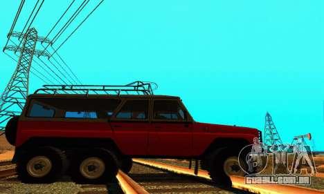 UAZ 31514 6 x 6 para GTA San Andreas esquerda vista