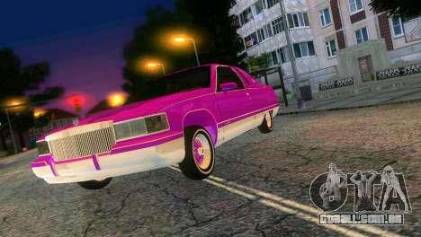 Cadillac Fleetwood Coupe para GTA Vice City vista traseira