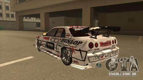 Nissan Skyline ER34 Uras GT Blitz 2009 para GTA San Andreas vista traseira