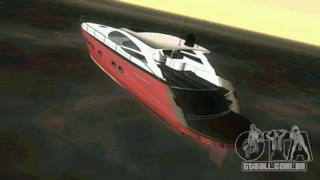 Cartagena Delight Luxury Yacht para GTA Vice City vista direita