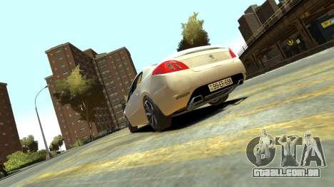 Peugeot 408 GT para GTA 4 esquerda vista