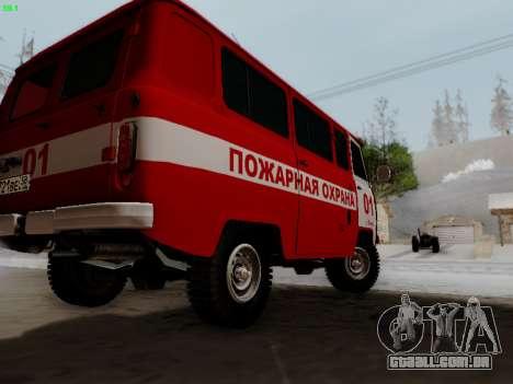 UAZ 452 Fire Staff Penza Russia para GTA San Andreas vista direita