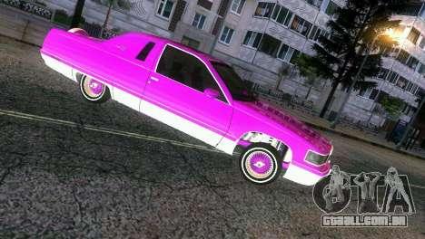 Cadillac Fleetwood Coupe para GTA Vice City vista traseira esquerda