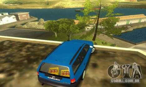 Opel Astra F Caravan para GTA San Andreas traseira esquerda vista