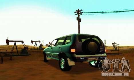 21236 Chevrolet Niva VAZ para GTA San Andreas vista traseira