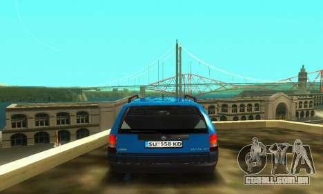 Opel Astra F Caravan para GTA San Andreas vista interior
