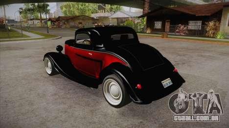 Hot Rod Extreme para GTA San Andreas traseira esquerda vista