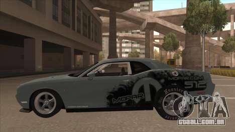 Dodge Challenger Drag Pak para GTA San Andreas traseira esquerda vista