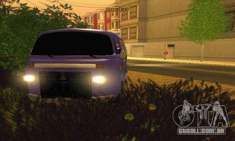 VW Kombi ESCOLAR para GTA San Andreas vista traseira