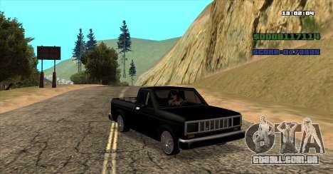 NEW Bobcat para GTA San Andreas esquerda vista