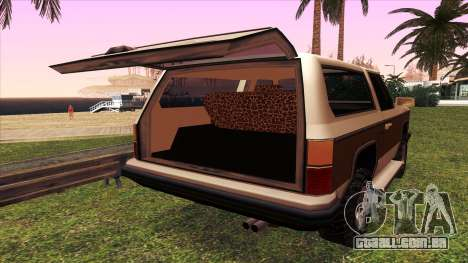 Rancher Bronco para vista lateral GTA San Andreas