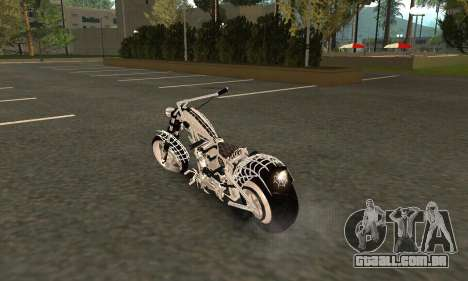 Black Widow para GTA San Andreas traseira esquerda vista