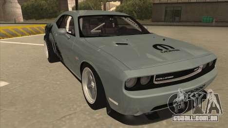 Dodge Challenger Drag Pak para GTA San Andreas esquerda vista