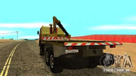 Caminhão de reboque 43114 KAMAZ para GTA San Andreas vista direita