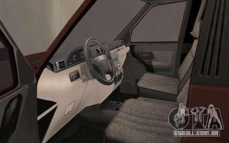 UAZ Patriot para GTA San Andreas vista traseira