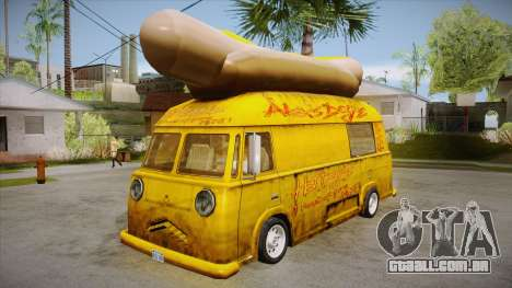 Hot Dog Van Custom para GTA San Andreas