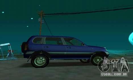 21236 Chevrolet Niva VAZ para GTA San Andreas esquerda vista