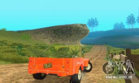 GAZ 69 Pickup para GTA San Andreas vista traseira