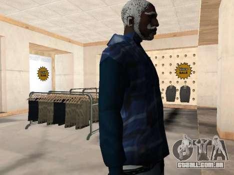 A nova jaqueta CJ para GTA San Andreas terceira tela
