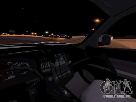 Toyota Land Cruiser POLICE para GTA San Andreas vista traseira