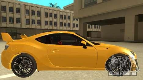 TOYOTA GT86 2JZ-GTE Black Revel para GTA San Andreas traseira esquerda vista