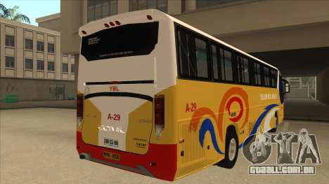 Yellow Bus Line A-29 para GTA San Andreas vista traseira