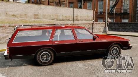 Chevrolet Caprice Wagon 1989 para GTA 4 esquerda vista