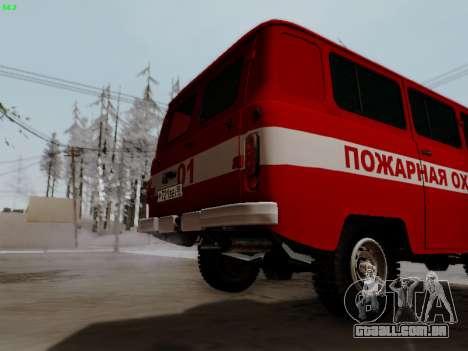 UAZ 452 Fire Staff Penza Russia para GTA San Andreas vista traseira