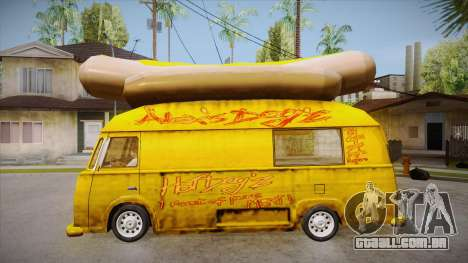 Hot Dog Van Custom para GTA San Andreas esquerda vista