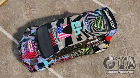 Ford Fiesta Gymkhana 6 Ken Block [Hoonigan] 2013 para GTA 4 vista direita