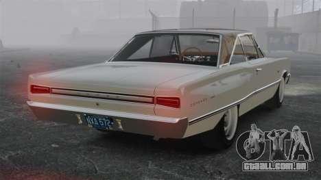 Dodge Coronet 440 1967 para GTA 4 traseira esquerda vista