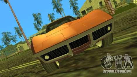 Chevrolet Corvette C3 Tuning para GTA Vice City deixou vista