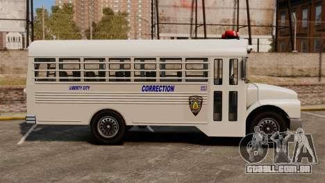 O ônibus da prisão Liberty City para GTA 4 esquerda vista