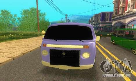 VW Kombi ESCOLAR para GTA San Andreas vista direita