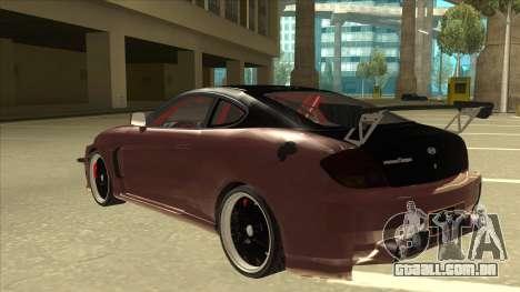 Hyundai Tiburon Coupe Tuning para GTA San Andreas vista traseira